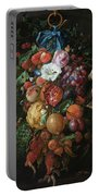 Festoon Of Fruit And Flowers, 1670 Portable Battery Charger