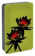 Fire Lilies Portable Battery Charger