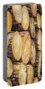 Firewood  Portable Battery Charger by Nick Bywater