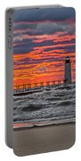 First Day Of Fall Sunset Portable Battery Charger