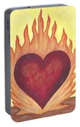 Flaming Heart Portable Battery Charger