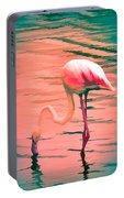 Flamingo Art Portable Battery Charger