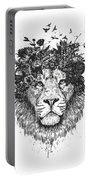 Floral Lion Portable Battery Charger