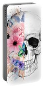 Floral Skull 2 Portable Battery Charger