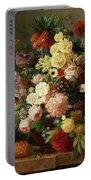 Flower Still Life Portable Battery Charger