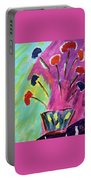 Flowers Gone Wild Portable Battery Charger by Deborah Boyd