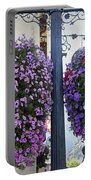 Flowers In Balance Portable Battery Charger by Mae Wertz