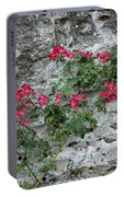 Flowers On Stone Portable Battery Charger