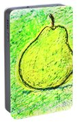 Fluorescent Pear Portable Battery Charger