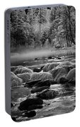 Fog On Yosemite River Portable Battery Charger