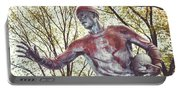 Football Statue - Rutgers University Portable Battery Charger