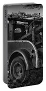 Ford F4 Tow The Truck Business End Black And White Portable Battery Charger
