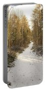 Forest Track In Winter Portable Battery Charger