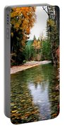 Forest With River Portable Battery Charger