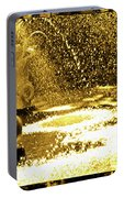 Forsyth Park Tritons In A Cascade Of Gold Portable Battery Charger