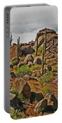 Four Peaks Road Granite Boulders And Saguraros Portable Battery Charger