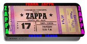 Frank Zappa 1980 Concert Ticket Portable Battery Charger