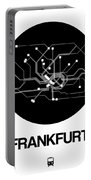 Frankfurt Black Subway Map Portable Battery Charger