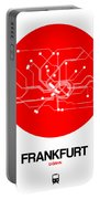 Frankfurt Red Subway Map Portable Battery Charger