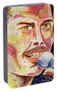 Freddie Mercury Portrait Portable Battery Charger