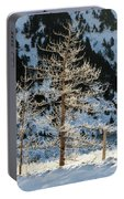 Frost Covered Trees On The Portage Glacier Highway Alaska Portable Battery Charger