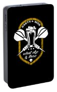 Funny Dart Player Darts And Beer Lovers Portable Battery Charger