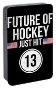 Future Of Ice Hockey Just Hit 13 Teenager Teens Portable Battery Charger