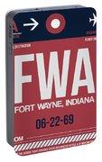 Fwa Fort Wayne Luggage Tag II Portable Battery Charger