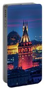 Galata Tower And Suleymaniye Mosque Portable Battery Charger
