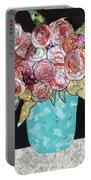 Garden Roses Portable Battery Charger