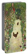Garden With Chickens, 1916 Portable Battery Charger