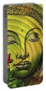Gautama Buddha Ripple Effect Portrait Portable Battery Charger