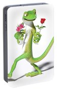 Gecko In Love Portable Battery Charger