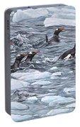Gentoo Penguins By Alan M Hunt Portable Battery Charger