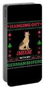 German Shepherd Ugly Christmas Sweater Xmas Gift Portable Battery Charger