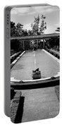 Getty Villa Massive Pool Black White Landscape  Portable Battery Charger