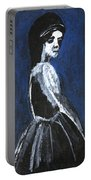 Girl In A Dress Portable Battery Charger