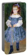 Girl With Jumping Rope, 1876 Portable Battery Charger