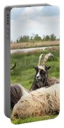 Goats  Portable Battery Charger by Anjo Ten Kate