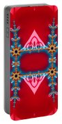 Gods Love And Mercy Is Infinite Fractal Abstract Hearts Portable Battery Charger by Rose Santuci-Sofranko