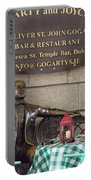 Gogarty And Joyce Statues One Portable Battery Charger