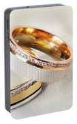 Gold Wedding Ring  Portable Battery Charger