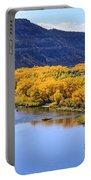 Golden Autumn Trees San Juan River Landscape Portable Battery Charger