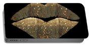 Golden Dreams Fantasy Lips Fashion Art Portable Battery Charger