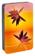 Golden Duo Water Lilies Portable Battery Charger