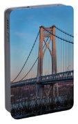 Golden Hour At Mid-hudson Bridge Portable Battery Charger