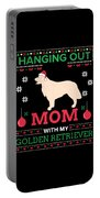 Golden Retriever Ugly Christmas Sweater Xmas Gift Portable Battery Charger