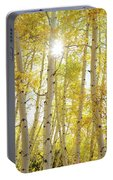 Golden Sunshine On An Autumn Day Portable Battery Charger