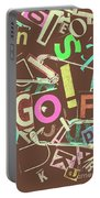 Golfing Print Press Portable Battery Charger