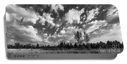 Good Harbor Shoreline Black And White Portable Battery Charger